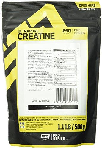 ESN Ultrapure Creatine Monohydrate, 500g - 3
