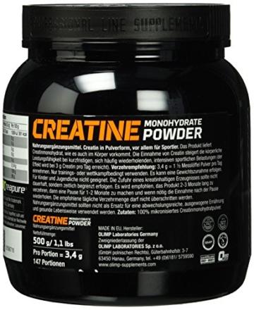 Olimp Creapure Monohydrat Powder, 500 g - 3
