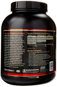Optimum Nutrion Gold Standard 100 Whey Test - Rückseite