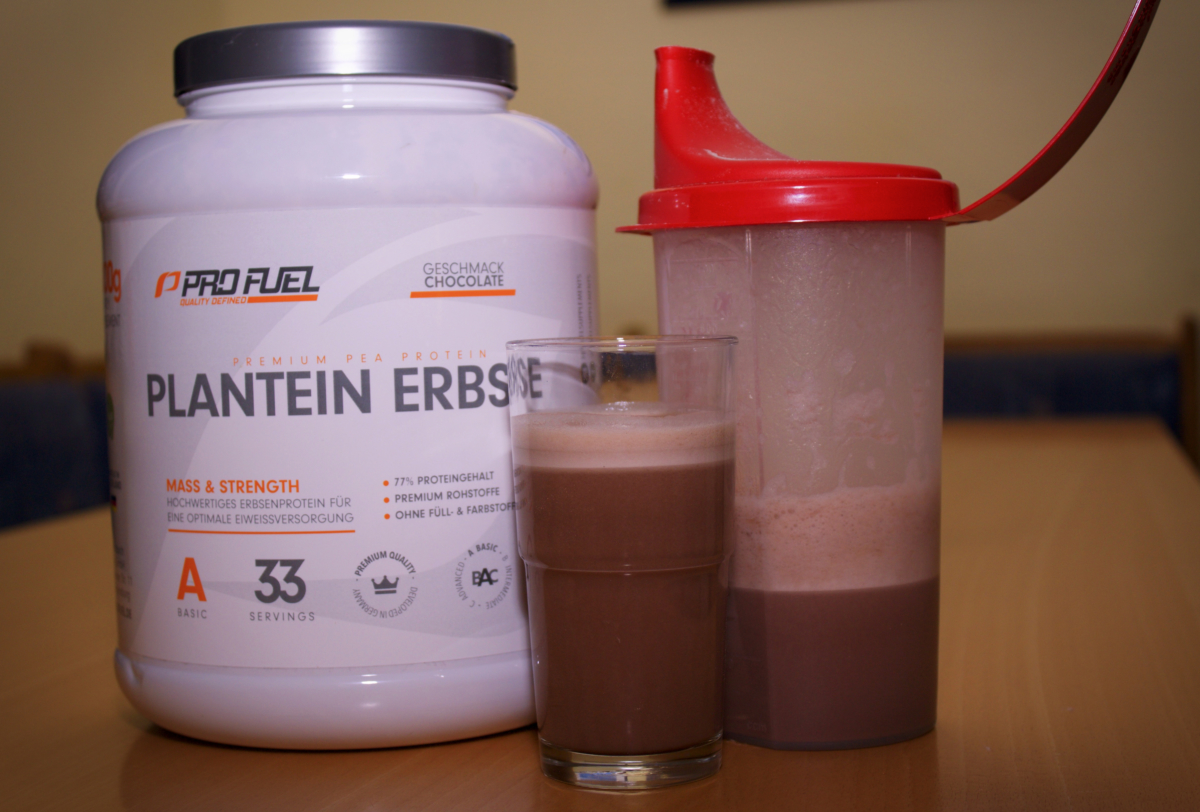 Profuel Plantein Erbse Test - Fertiger Shake