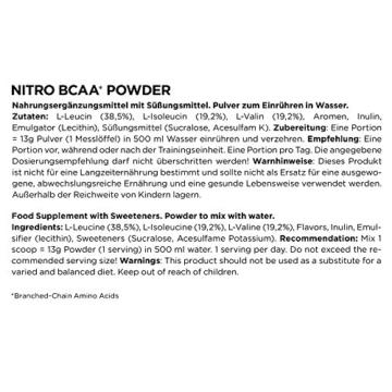 ESN Nitro BCAA Powder, Raspberry Iced-Tea, 500g - 3